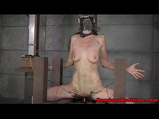 BDSM sub Emma Haize torment with clamps