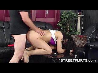 Brunette german Amateur babe fucks pervert casting agent