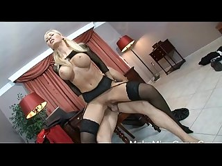 Hot babe on stocking helena sweet get screwed and got a cumshot