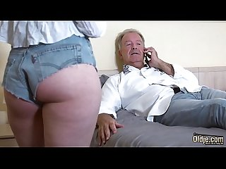Jealous trophy girlfriend fucks sugar daddy sucks his dick and swallows cum