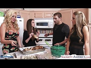 Hot cuties brooklyn chase nicole aniston and summer brielle gets nailed