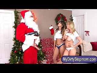 Alexis fawx and sophia leone crazy threesome with santa