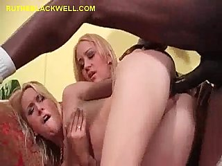 Blondes helping each other take black fuck