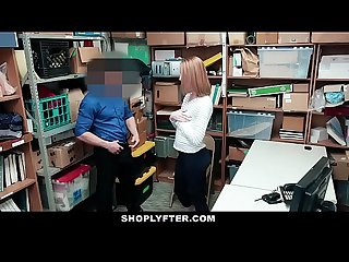 Shoplyfter lp officer fucks shoplifting Ginger teen