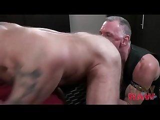 Horny hot gay daddies fuck bareback
