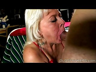 Super cute sexy old spunker loves it when you cum in her mouth