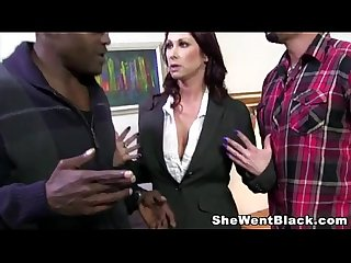 Big Tit MILF Tiffany Mynx gets 2 Black Cocks stuffed in her Pussy