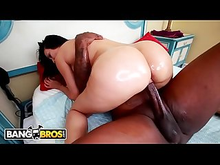 BANGBROS - Latin MILF Sheila Marie Takes Rico Strong's Big Black Cock!