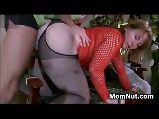 Young mature creampie
