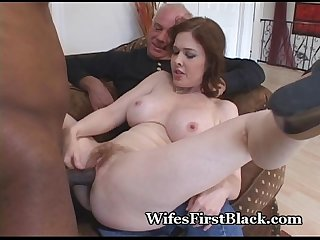 Wife's Pussy Squeezing Black Cum Out