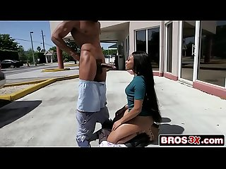 Bubble Butt Jayla Foxx Sucking BBC in a Public Parking Lot