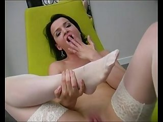 Footjob in white stockings www period beeg18 period com