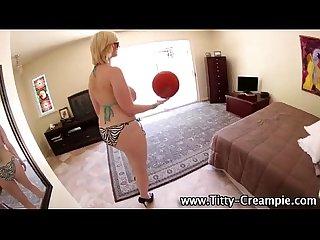 Busty slut shows her huge tits