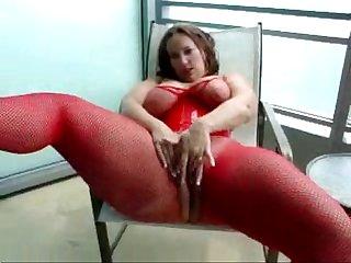 Busty babe masturbation