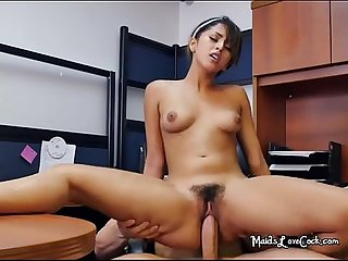 Lustful cleaning lady sophia leone fucks her boss