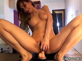 Hot Big Tit Amateur Babe Rubs Pussy & Fucks Dildo on Webcam pt 02 - cams69.net