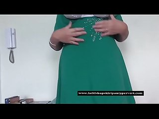 The british upskirt panty pervert gets up shirley s skirt