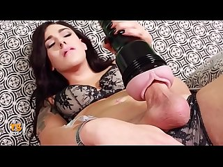 Horny Trans Girl fucks fleshlight