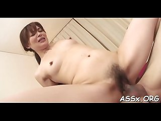 Wet asian blowjob after sexy anal