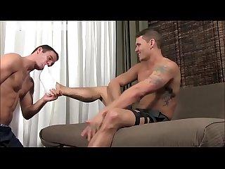 Handsome boy feet worship