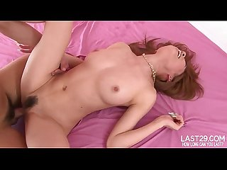 Doll faced slut gets both holes filled with dick