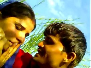 Village sarpanch wife fucked outdoor in khet young labour boy
