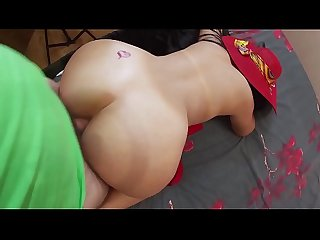 Anal sex with mature stepmom in her big and tight ass