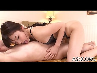Wet Asian orall service after Hot anal