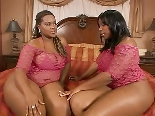 Black chicks show gurl and skyy black muff dive before getting fucked and ass jizzed on by black stu