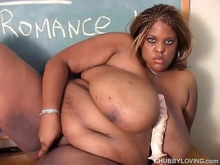 Huge boobs black bbw wishes you were fucking her juicy pussy