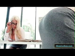 Hot and mean showing her who S boss with nicolette shea piper perri clip 01