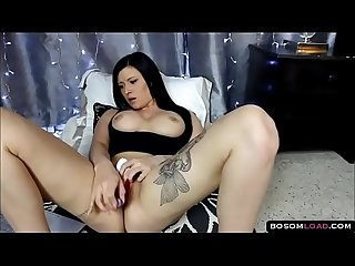 Watching brazzers porn while fingering pussy