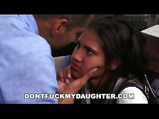 DON'T FUCK MY DAUGHTER - Latin Teen Victoria Valencia Fucks Daddy's Employee