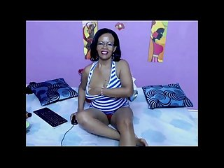 Black mother from blackscrush com plays with her pussy
