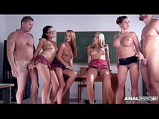 Anal classroom group sex makes Christen Courtney & Angel Blade orgasm hard