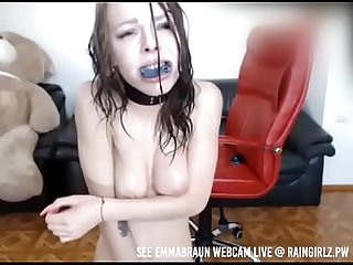 raingirlz bdsm models punishes herself, squirts, and drinks it!