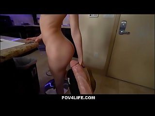 WOW Hot Blonde Teen Step Sister Kiara Cole Fucked To Orgasm By Step Brother In Kitchen POV