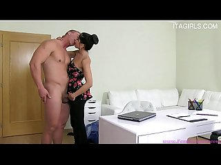 Glamour pussy riding creampie