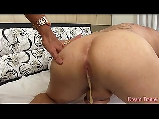 Big dicked blonde shemale fucks a guy