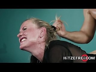 Hitzefrei blonde german milf fucks a younger guy