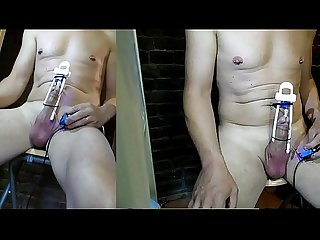 OMG fucking drill cock machine with big notched rod turn inside DIY