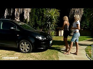 Automobile Amour by Sapphic Erotica - sensual lesbian sex scene with Lena and Al