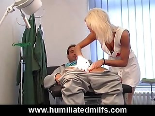 Naughty nurse s cock examination