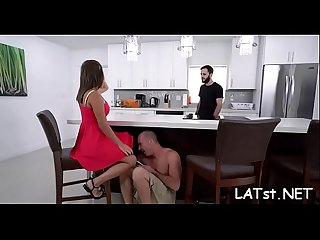 Boy enjoys penetrating deep into sexy latina's sexy tight twat