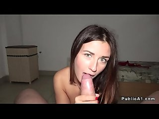 Brunette amateur picked up and screwed
