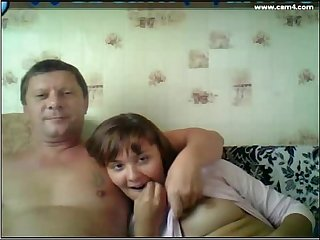 Dad and daughter watching tv comma i do this with my dad too