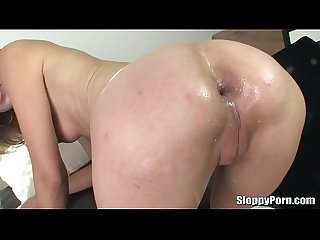 Amber Rayne sloppy head and anal