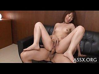 Dazzling 3some oriental fucking