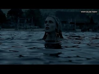 Gaia weiss flashing her boobs naked swimming bare butt vikings s02 2014