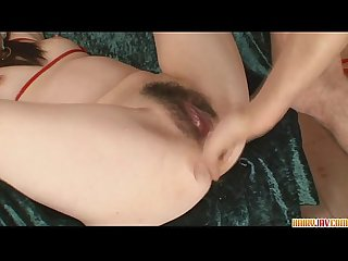 Asuka stripping off and finger fucked to orgasm